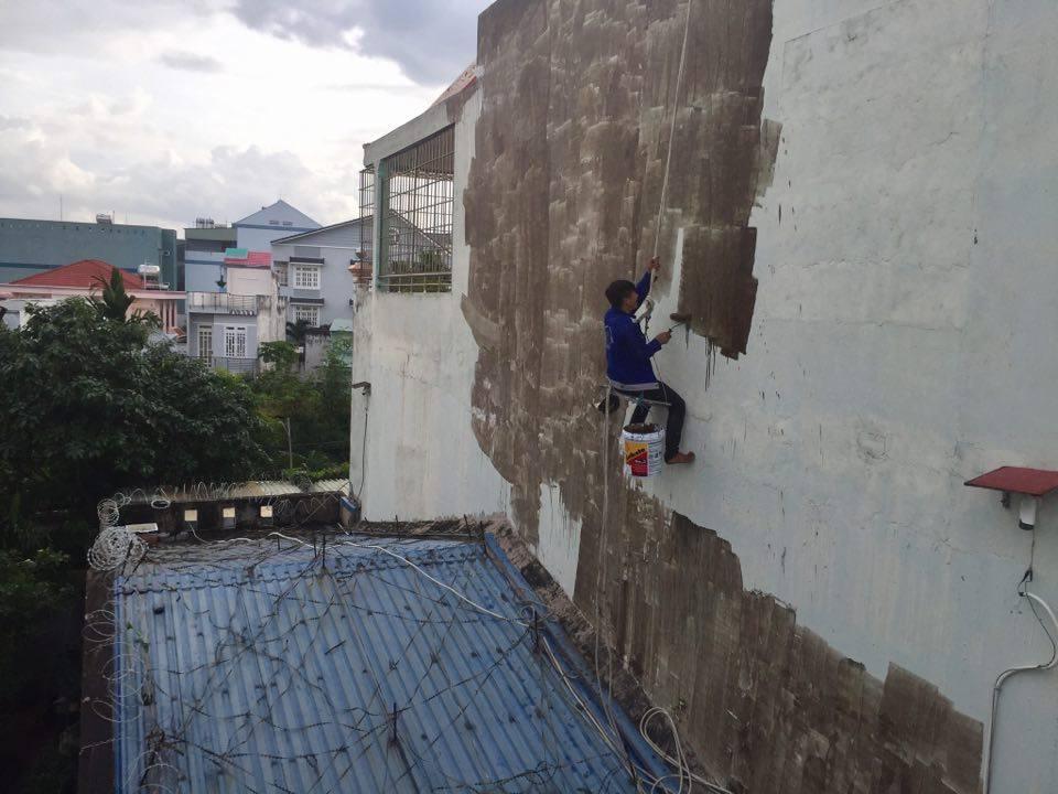 Chuyên nhận sơn chống thấm tường ngoài trời